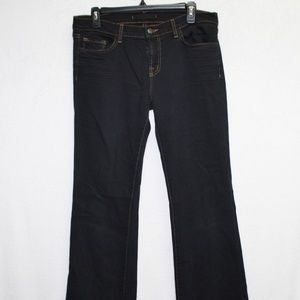 J Brand black bootcut low rise dark wash jeans 31